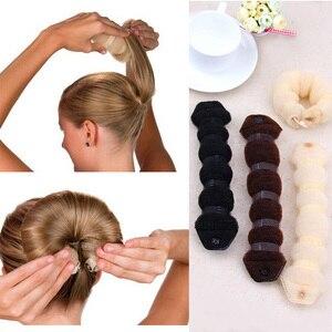 New Fashion Hair Tools Magic Quick Bun Make Hair Styling Long Headbands Women DIY Hairbands Girl Hair Bands Hair Accessories