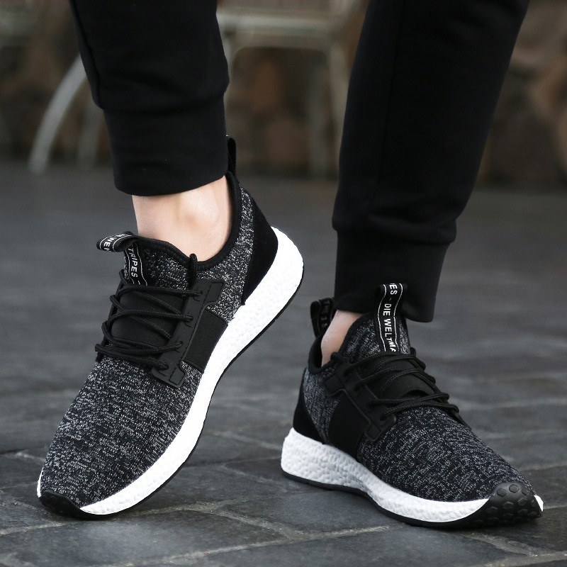 Men's Fly-weave upper Running Shoes Breathable Boy Sneakers Male Athletic Outdoor Sports Shoes Men