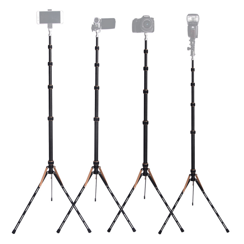Image 5 - Fosoto FT 220 Carbon Fiber Led Light Tripod Stand Monopod For Camera Photo Studio Photographic Lighting Flash Umbrella Reflector-in Photographic Lighting from Consumer Electronics