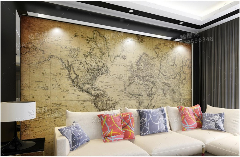 Friendly 3d Room Wallpaper Custom Photo Murals Wall Sticker Color Carved Sofa Tv Background Wall World Map Chinese Wallpaper For Wall 3d Novel Design; In
