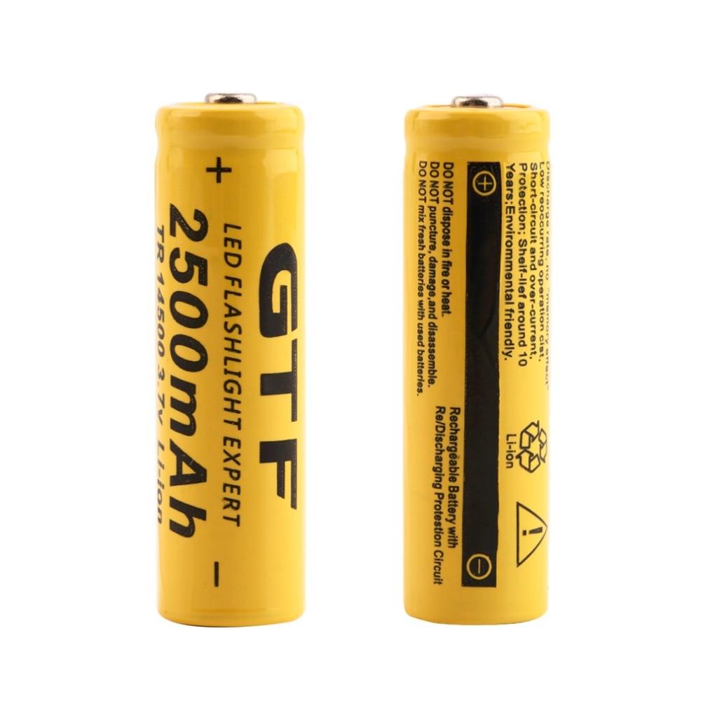 GIF TR 14500 3.7V 2500mAh Rechargeable Li-ion Battery Universal For LED Flashlight Headl ...