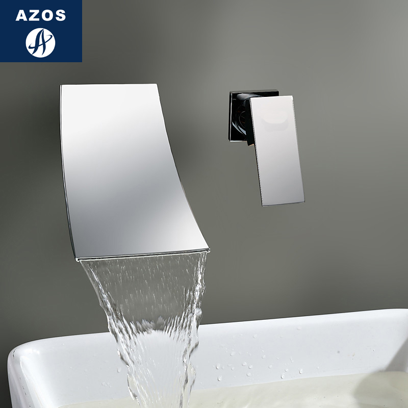 Azos In-wall Faucet Soft Wash Basin Brass Chrome Cold and Hot Switch Rotatable Shower Room Basin One-piece Double Handle Three HAzos In-wall Faucet Soft Wash Basin Brass Chrome Cold and Hot Switch Rotatable Shower Room Basin One-piece Double Handle Three H