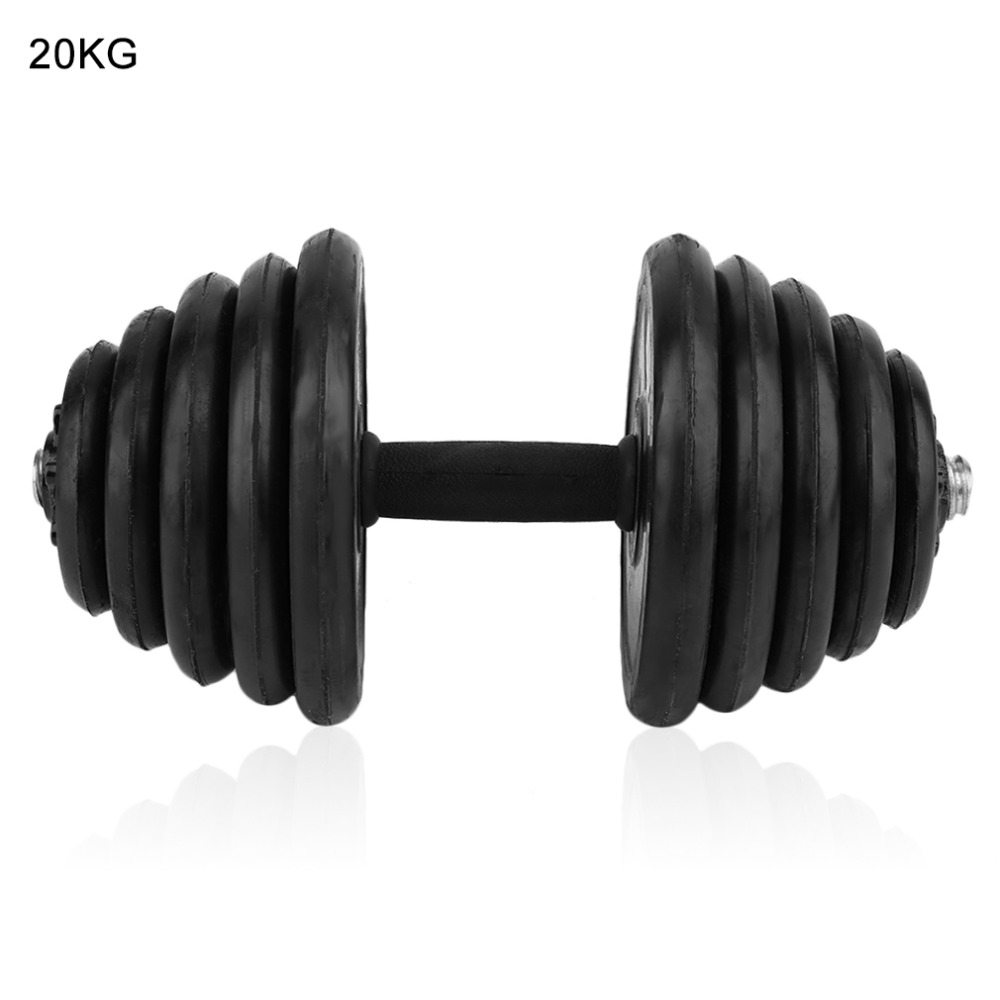 20KG Adjustable Exercise Dumbbell Weight Lifting Set Barbells Fitness Exercise Weight Lifting Gym Body Building Muscle Dumbbell 150kg kg bumper plates set for gym exercise weight lifting inculding a pair of 25kg 20kg 15kg 10kg and 5kg