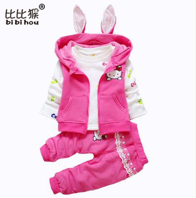 barato de dibujos animados hello kitty bebs recin nacido ropa bebs fijados traje unids capa