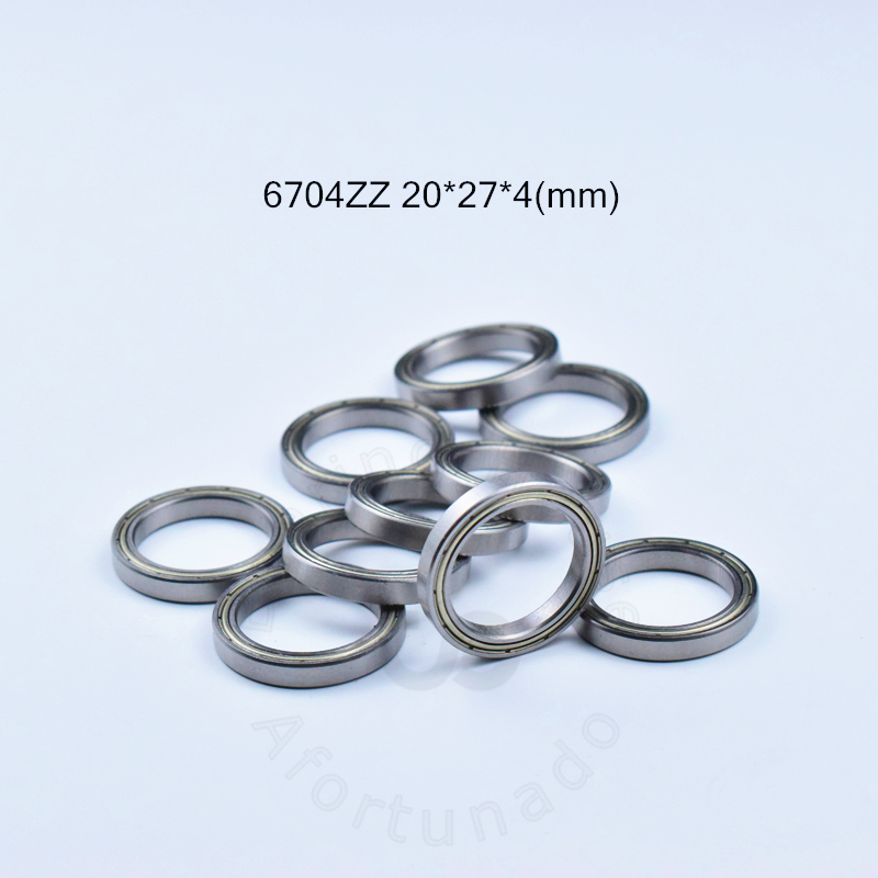6704ZZ Bearing 20*27*4(mm) 10pieces ABEC-5  6704 6704ZZ Chrome Steel Deep Groove Bearing Metal Sealed Bearing Thin Wall Bearing