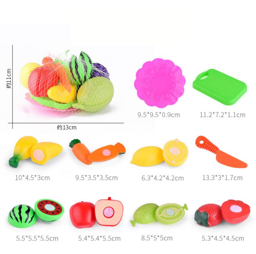 Kids Pretend Role Play Kitchen Fruit Vegetable Food Toy Cutting Set Gift Toy 100% brand new and high quality Education Toy