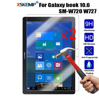 XSKEMP 2Pcs/Lot 9H Screen Protector For Samsung Galaxy book 10.6 SM-W720 W727 Ultra Clear Tablet Tempered Glass Protective Film