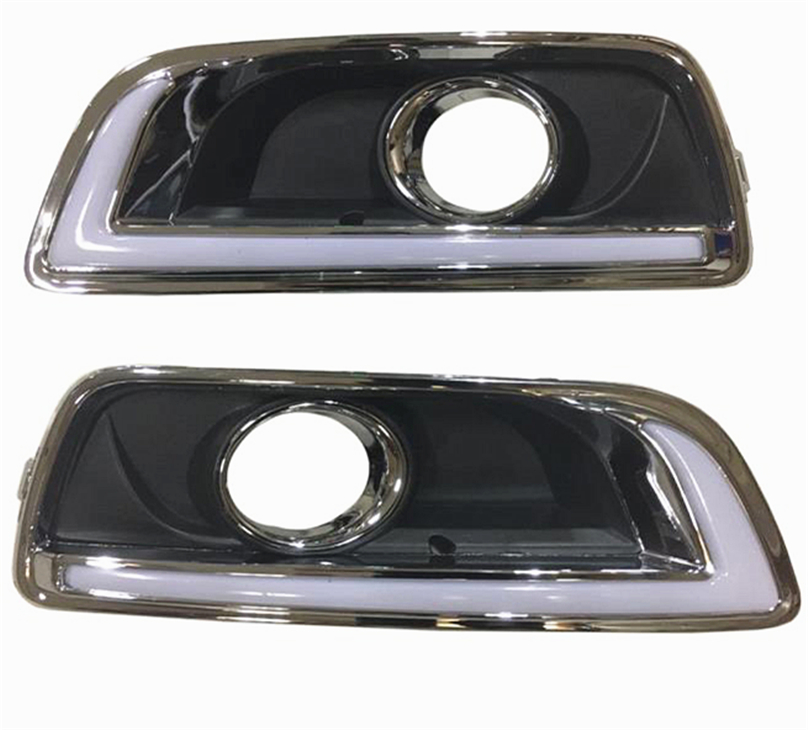 2pcs For chevrolet Malibu 2011 2015 Driving car DRL with turn signal Daytime Running Light fog