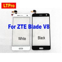 Best Working Black White Touch Screen Digitizer For ZTE Blade V8 Touch Panel Front Glass Sensor