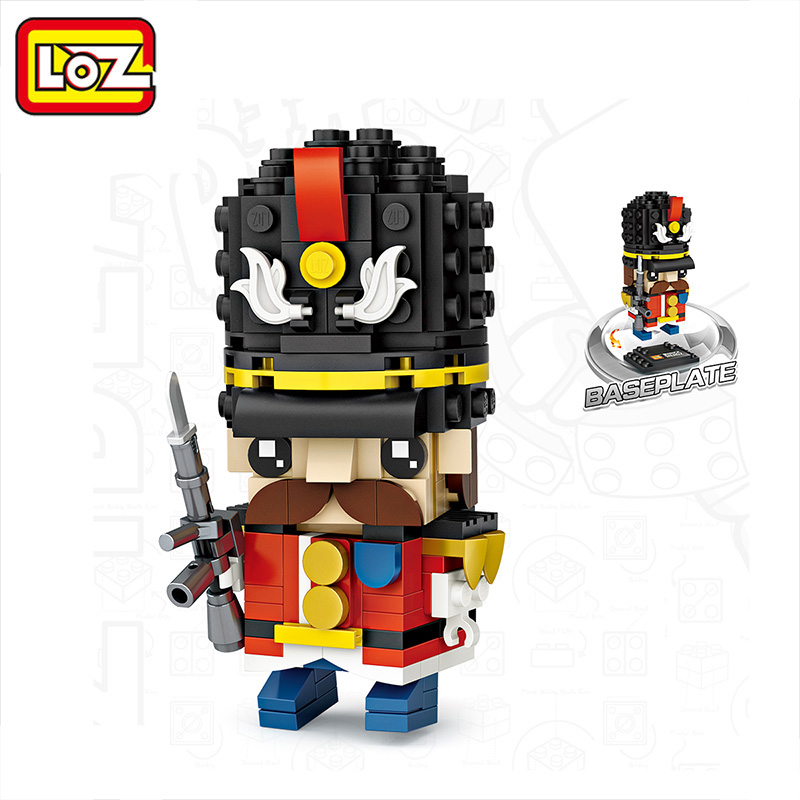LOZ British Soldier Mini Blocks Toys for Children Building Blocks Official Authorized Assembling Toy Bricks Playmobil