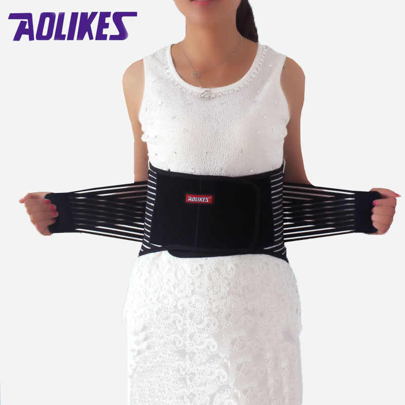 29c69acacfe AOLIKES Lumbar Support High Elastic Breathable Mesh Health Care With Steel Waist  Support Back Support Brace