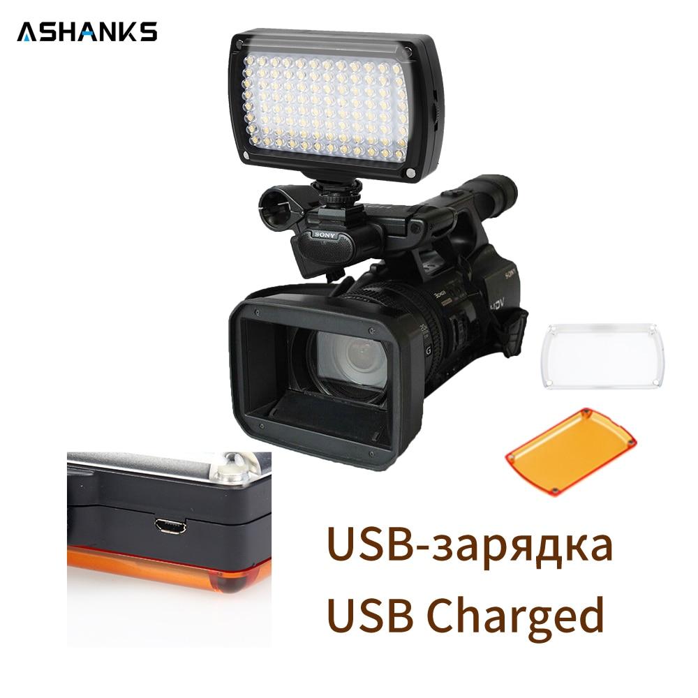 ASHANKS LED Video Light on Camera Photo Lighting Bulbs Hotshoe LED Lamp Light for USB Charger DSLR Wedding Photographic Lighting