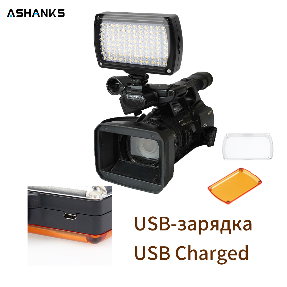 ASHANKS Luz de vídeo LED Cámara foto bombillas de iluminación Hotshoe lámpara de luz LED para el cargador USB DSLR boda iluminación fotográfica