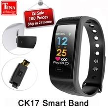 Dynamic Heart Rate Monitor de sangre Sport Fitness actividad CK17 VS R17 banda inteligente pulsera impermeable USB carga reloj