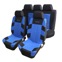 Embroidery Car Seat Covers Set Universal Fit Most Car With Tire Track Detail Styling Car Seat