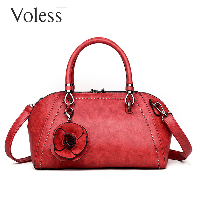 Luxury Handbags Women Bag Flower Designer Bag Leather Women Messenger Bags Sac A Main Crossbody Bags Female Totes Bolsa Feminina 2018 women messenger bags minnie mickey bag leather handbags clutch bag bolsa feminina mochila bolsas female sac a main