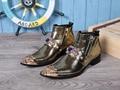 Estilo italiano-punta estrecha Zapatos de Trabajo Botas de Moda Masculina de Cuero Real Botas de Alta Top Botas Para Hombre Vestido de Novia Tamaño de LA UE 38-46