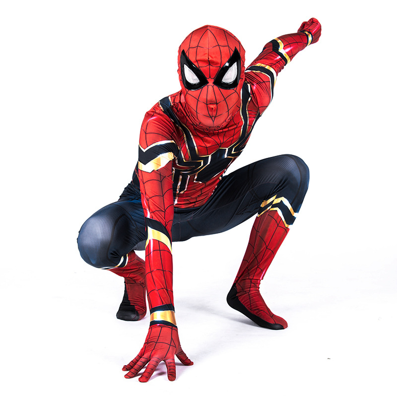 Spiderman Cosplay Costume Kids Iron Spiderman Costume Homecoming Bodysuit Jumpsuit Venom Spiderman Costume Child Classic Cosplay