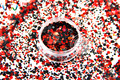 RAP321-252 Colores de La Mezcla Mezclar Colores formas de Punto redondo Del Brillo para el arte del clavo, uñas de gel, esmalte de uñas maquillaje y la decoración de DIY