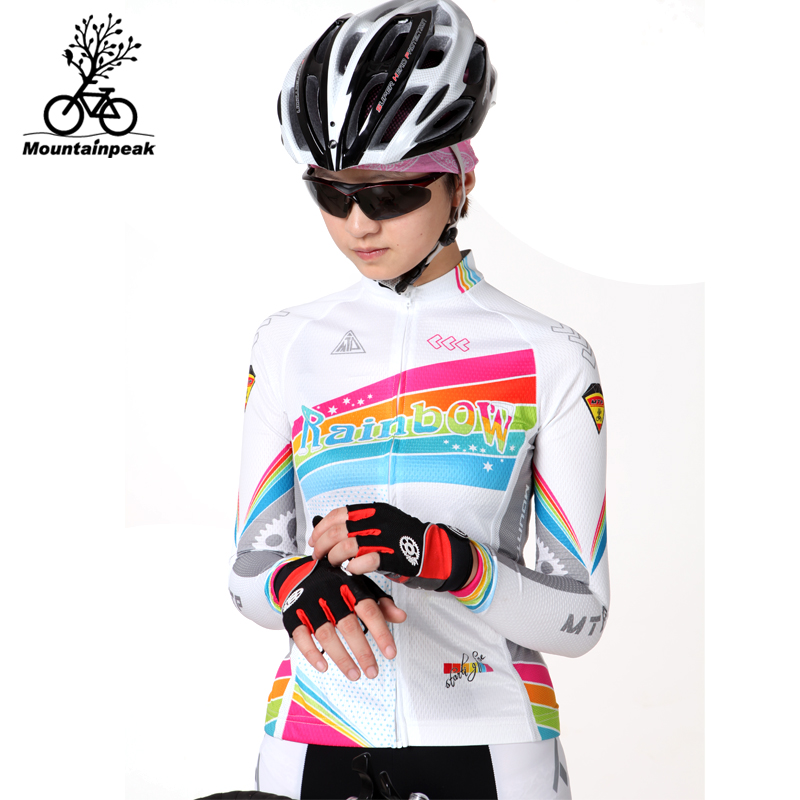 Mountainpeak Rainbow Cycling Clothing Wear Long Sleeved Pants Women s Spring And Summer Cycling Set Roupa