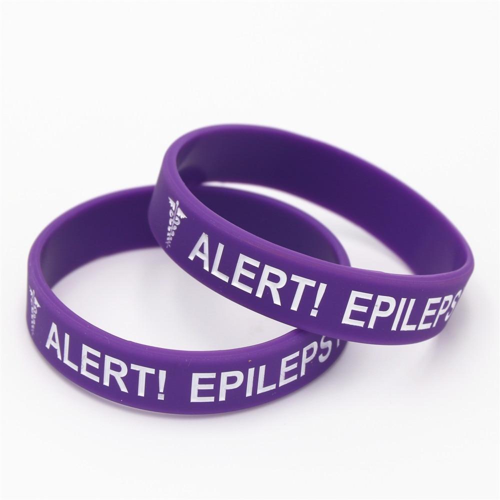 Lukeni 1pc Medical Alert Bracelet Epilepsy Silicone Wristband In Kids Size Armband Bracelets Bangles Gifts Sh135k Hologram From