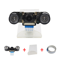 Raspberry Pi 3 Camera Wide Angle Fish Eye Night Vision Camera IR Sensor Light Acryclic Holder