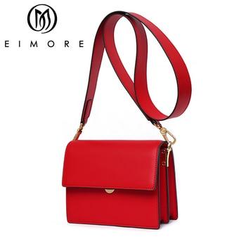 d8b4f56bb77e EIMORE женская сумка 2019 кожаная роскошная сумка через плечо для женщин  дизайнерская женская сумка через плечо женская сумка-мессенджер