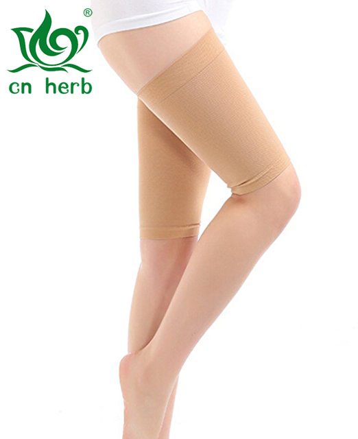 Cn Herb Hot Sale Elastic Breathable Stretch Skinny Leg Weight Loss Wrap Massager Slimming Thigh Leg Shaper Compression Socks