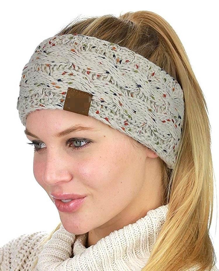2018   Headwear   Knitted Crochet Twist Women Headband Winter Ear Warmer Elastic Hair Band for Women's Wide Hair Accessories Turban