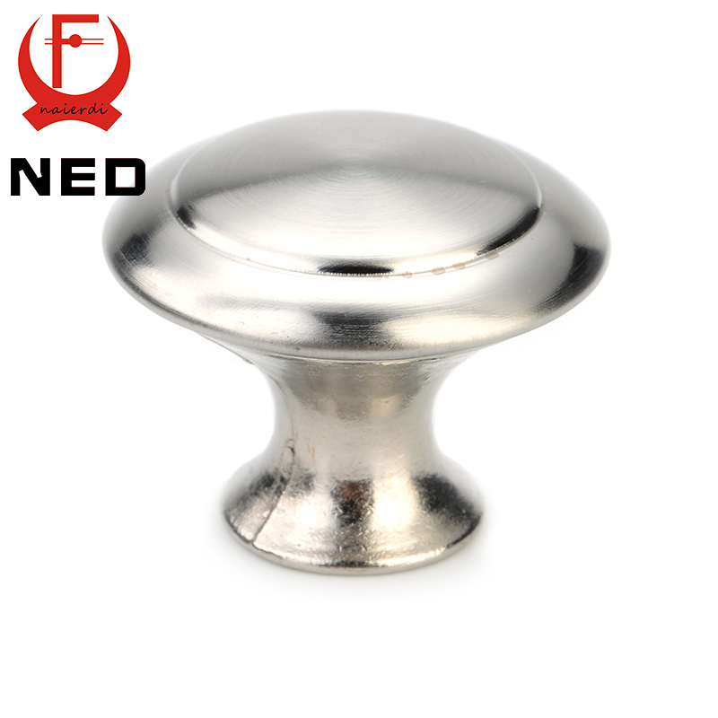 20PCS NED Cabinet Handle Stainless Steel Circle Round Handles Drawer Furniture Wardrobe Knobs Pull Handle Furniture Hardware furniture drawer handles wardrobe door handle and knobs cabinet kitchen hardware pull gold silver long hole spacing c c 96 224mm
