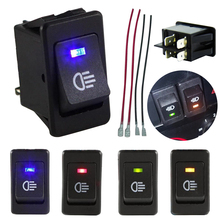 2017 New arrive 4-Pins LED On/Off Indicator Rocker Toggle Switch Driving Fog Lamp/Work Light Bar