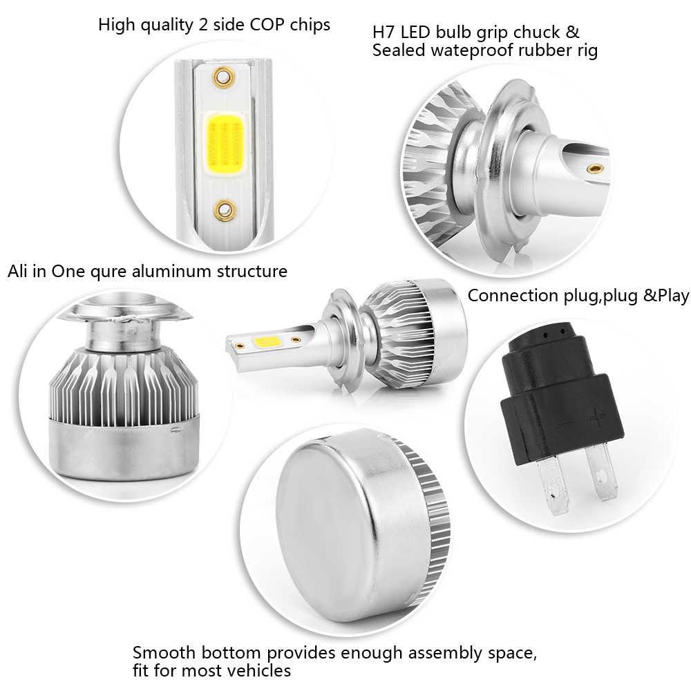 2 Pcs/Set COB Car Headlight H7 Led Bulbs H1 H4 H8 H9 H11 9005 HB4 9006 HB4 Led Car Light Bulbs Led 6000K Automobiles Headlamp