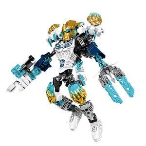 Image 2 - BIONICLE Tahu Ikir фигурки героев, строительные блоки, игрушки, совместимые с Lepining BIONICLE, подарок