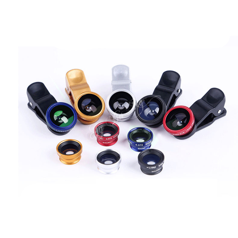 3 in 1 Clip-On Wide angle Fish Eye Macro cell phone Lens camera for Samsung Galaxy S6 Edge S5 S4 S3 Note 4 3 2 iphone 4 5 6 Plus image