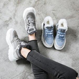 Image 3 - Bottes de neige en Faux daim pour femmes, chaussures chaudes, chaussures chaudes, fourrure, hiver 2020