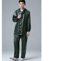 Adult Raincoat Rain Suit Motorcycle Raincoat Men Women Bicycle Rain Suit Waterproof Rainwear Suit Tops+Pants