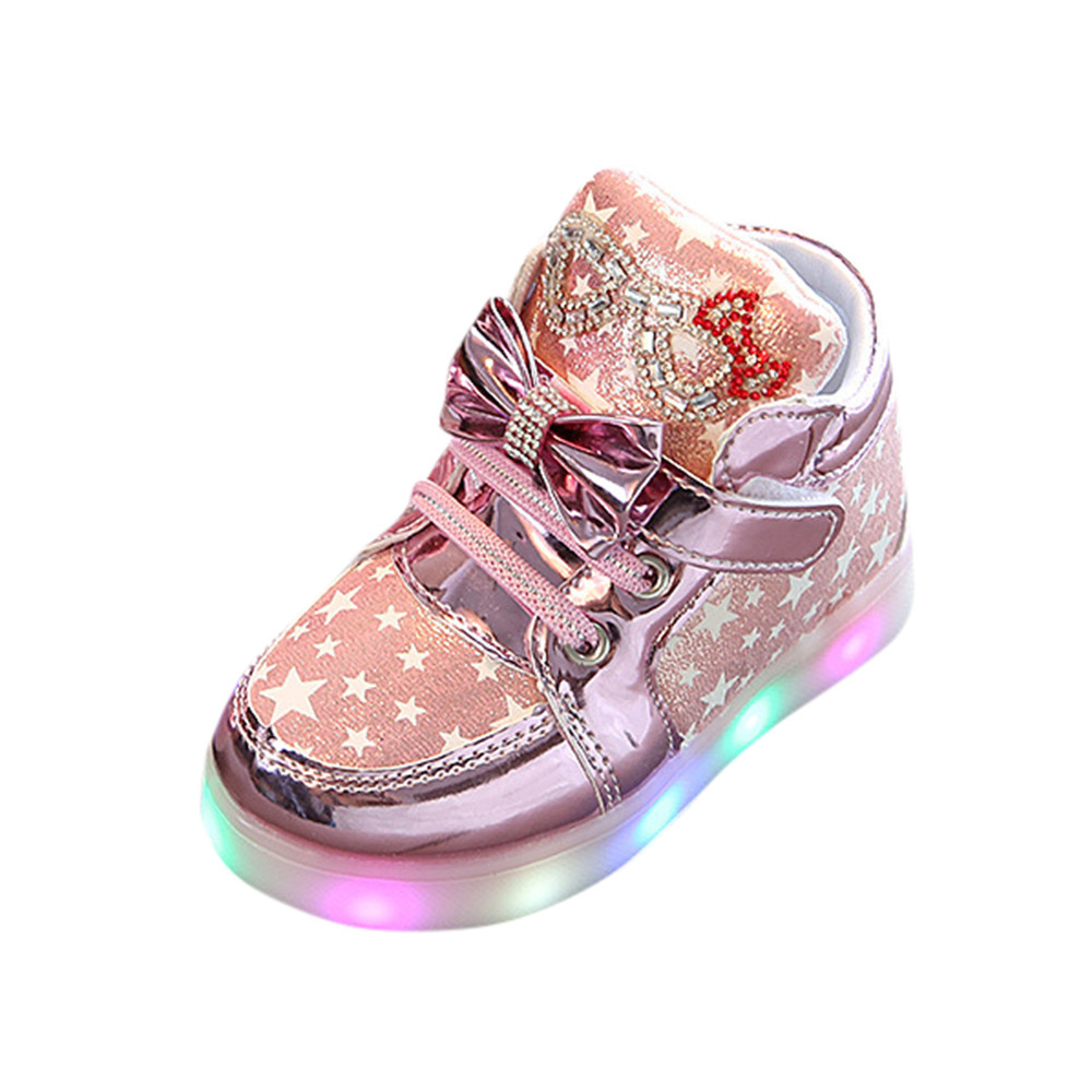 Light-Shoes Baby-Sneakers Toddler Autumn Winter Casual Fashion New Child Cute Star Colorful