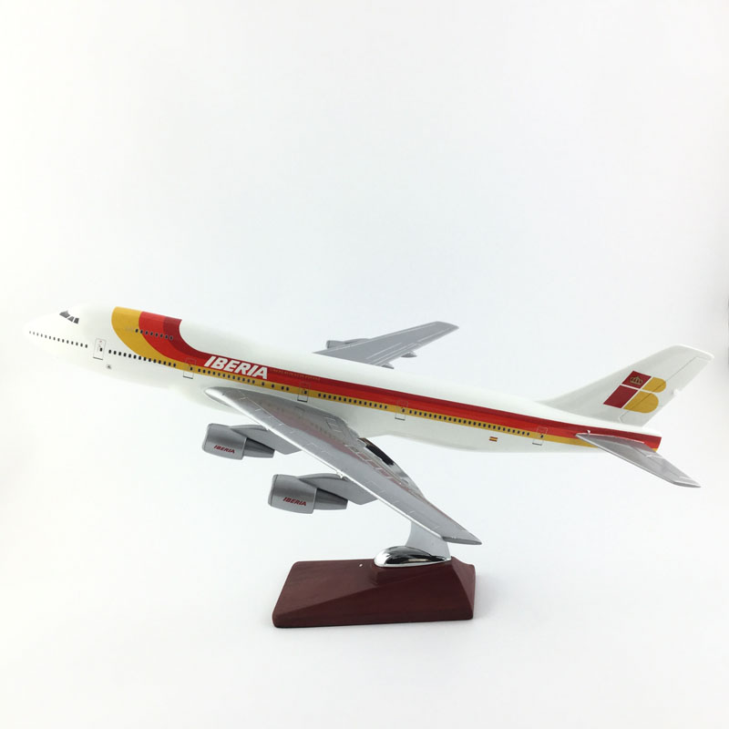 купить 45-47CM Boeing 747 IBERIA B747 1:150 METAL Alloy Aircraft Model Collection Model Plane Toys Gifts Free express EMS/DHL/Delivery по цене 8158.34 рублей