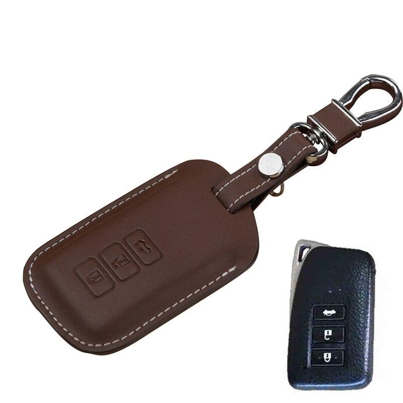 For Lexus Key Case Genuine Leather Smart Car Key Holder FOB Cover