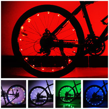 Intelligent Bicycle Wheel Light Water-resistant Bike Cycling Rim Lights LED Wheel Spoke Light 2m String Wire Lamp