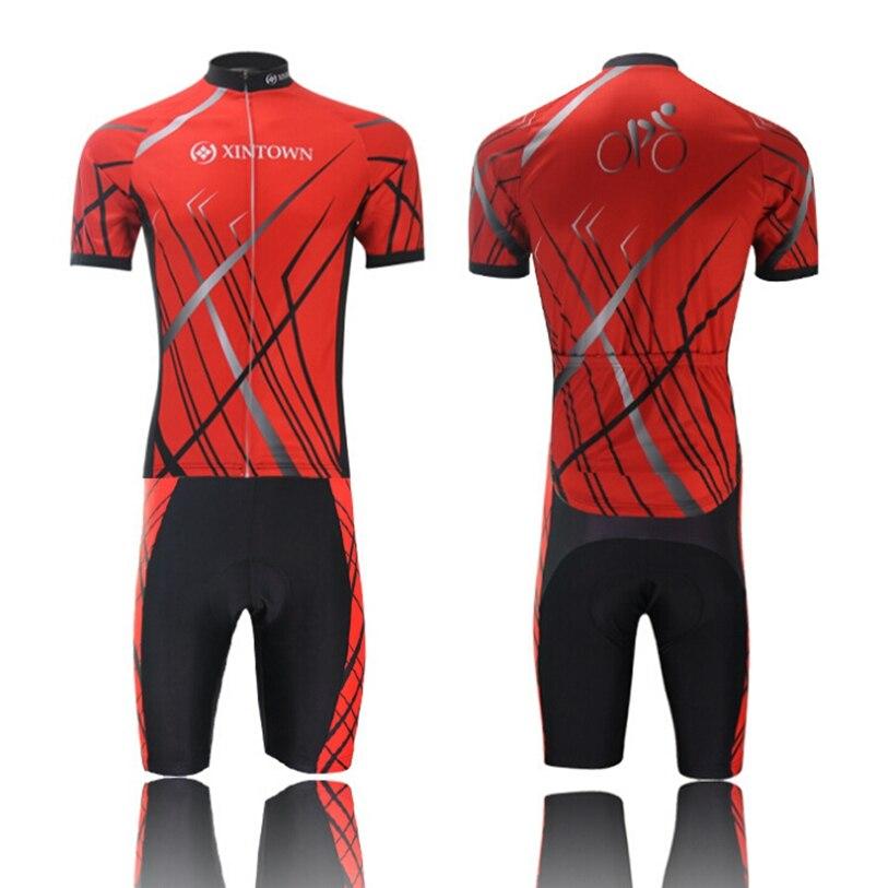 6cd90c0d14611 2016 XINTOWN Raios Vermelho Sportwear Ciclismo Jerseys de manga curta Ciclismo  roupas de bicicleta bicicleta jersey ou Ciclismo jersey