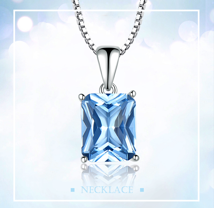 UMCHO ?Nano Sky Blue Topaz 925 sterling silver necklace for women NUJ056B-1-app (1)