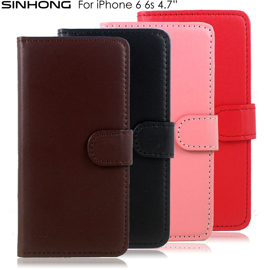 Cheap PU Leather Wallet Case For iPhone 6 6S Flip Cover