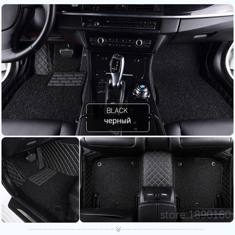 Custom car floor mats for Hyundai solaris ix35 30 25 Elantra MISTRA GrandSantafe accent car styling Custom auto foot mats