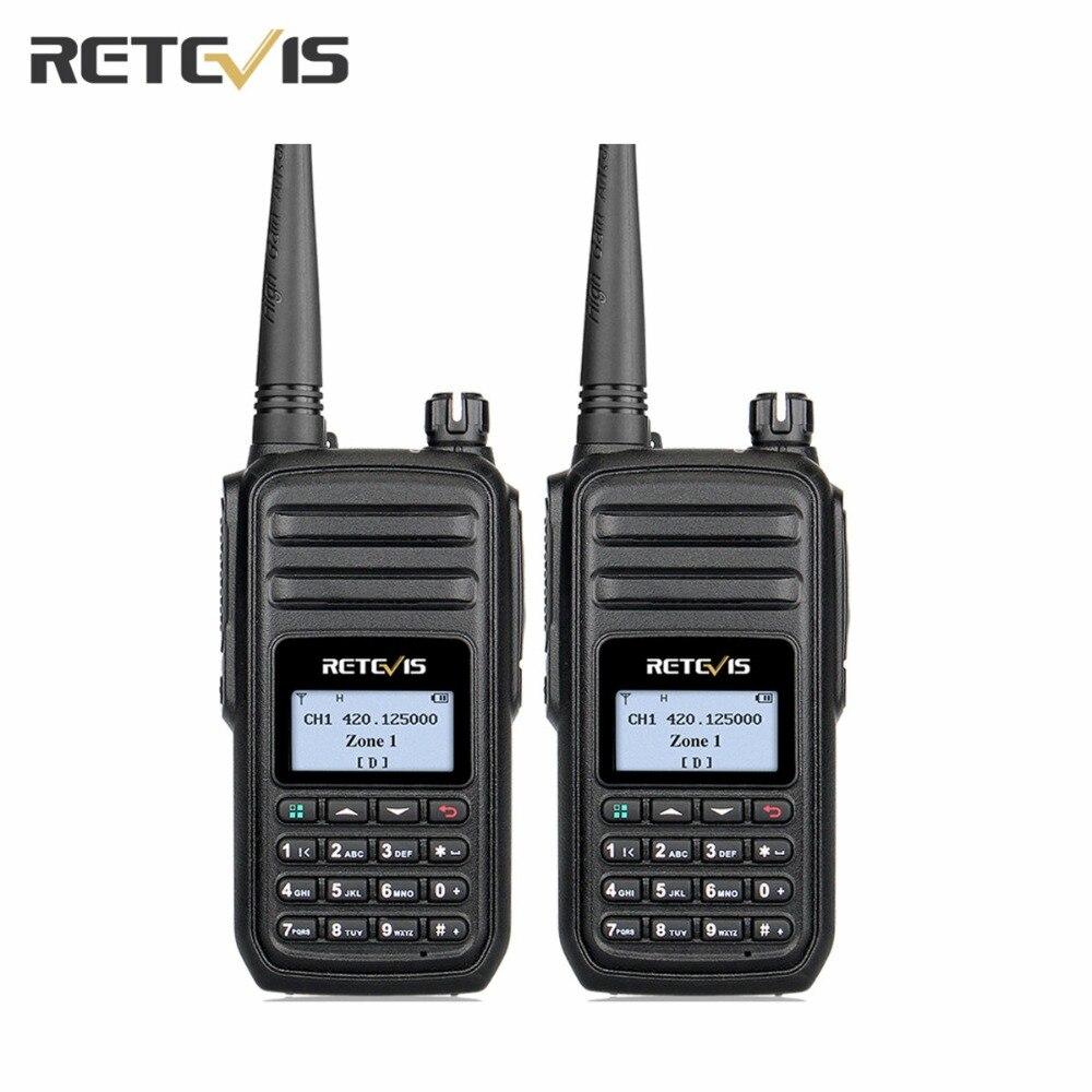 2 Pcs Retevis RT80 DMR Handheld Walkie Talkie 400 480MHz DCDM VOX 999Channels Two Way Ham