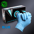 Disposable Nitrile Tattoo Gloves 50Pairs Sterilized Latex Rubber  New Tattoo Accessories Blue Colour(L)