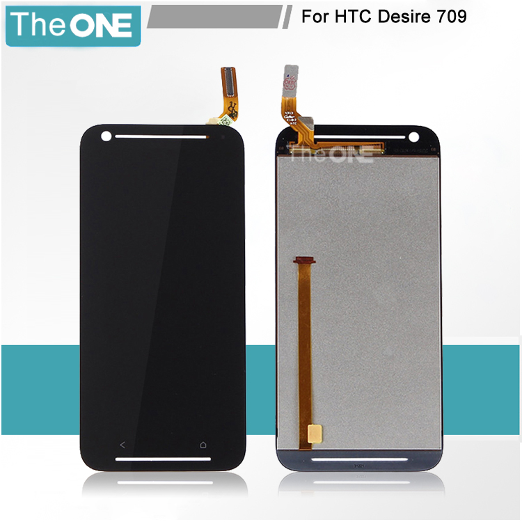 LCD Display screen+touch glass digitizer assembly for HTC Desire 709 D709 D709d full set repair Free Shipping,5pcs/lot