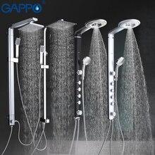 GAPPO Ванна Душ Набор смесителей ванная душ кран настенный смеситель настенный душевой набор водопад массаж большой душевой смеситель