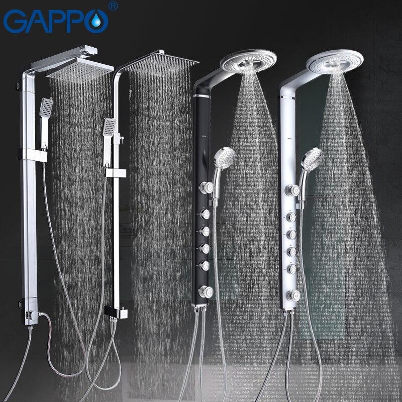 GAPPO torneiras de banheira e chuveiro set torneira do chuveiro montado na parede do banheiro misturador de parede torneira do chuveiro de Massagem Cachoeira grande chuveiro mixer