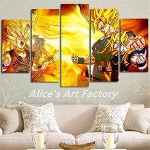 Dragon Ball z – 5 Panels – Canva Wall Art (Unframed)